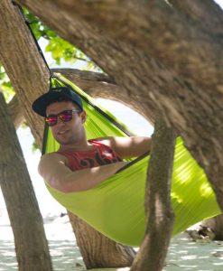 Хамак туристически единичен Colibri зелен LA SIESTA 4