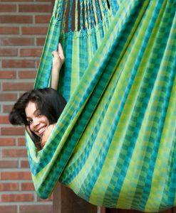 Хамак класически двоен Carolina зелен LA SIESTA 2