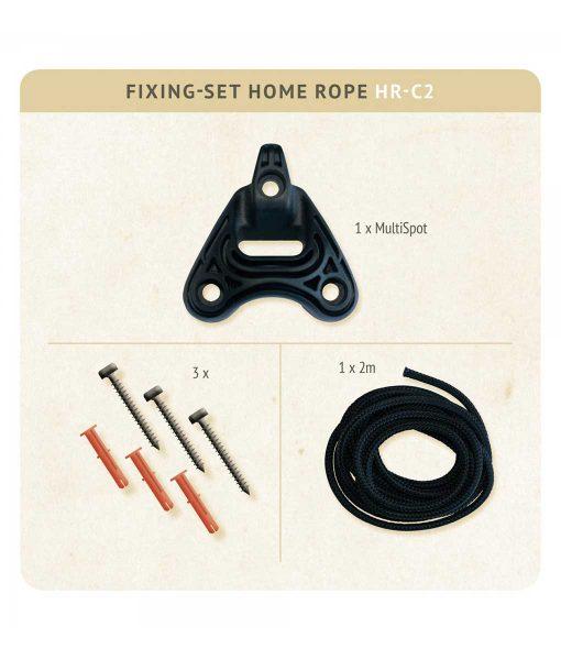 Комплект за окачване на хамак люлка Home rope black LA SIESTA 2