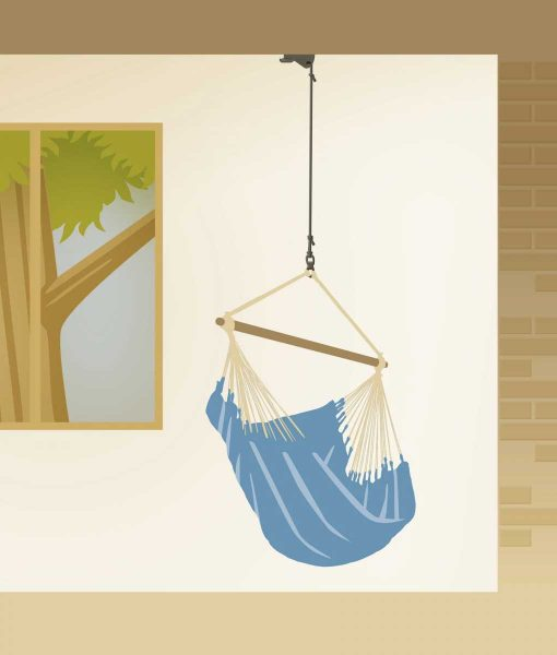 Комплект за окачване на хамак люлка Home rope black LA SIESTA 3