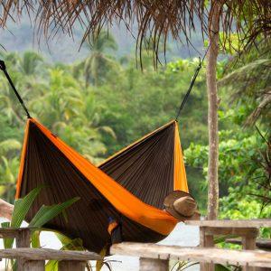 Хамак туристически двоен Colibri оранжев LA SIESTA 2