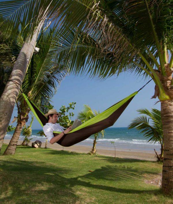 Хамак туристически двоен Colibri зелен LA SIESTA 3