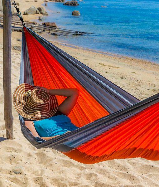 Хамак туристически единичен Breeze корал BREEZE 3