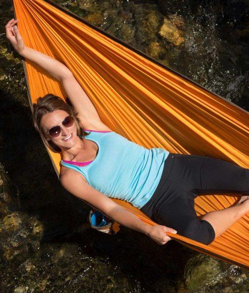 Хамак туристически единичен Colibri оранжев LA SIESTA 5