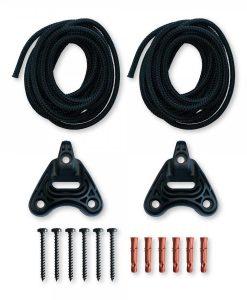 Комплект за окачване на хамак Home rope black LA SIESTA