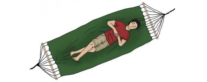 Как да лежим в хамак 3