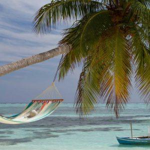 Хамак с рейки двоен Colada лазур Curacao LA SIESTA 2