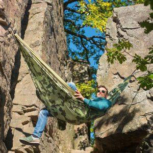 Хамак туристически двоен Colibri Camo Forest LA SIESTA 2