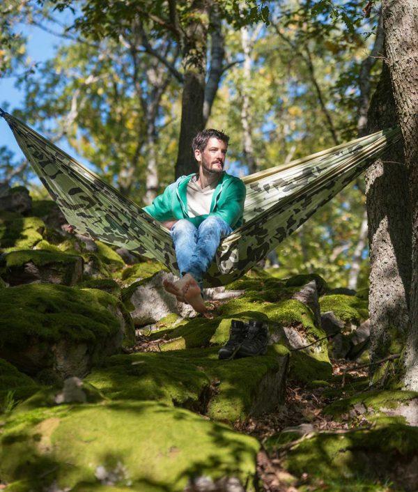 Хамак туристически двоен Colibri Camo Forest LA SIESTA 4