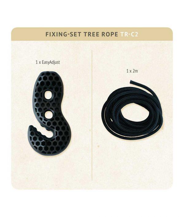 Въже за хамак люлка Tree rope black LA SIESTA 3