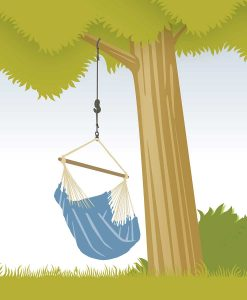 Въже за хамак люлка Tree rope black LA SIESTA 4