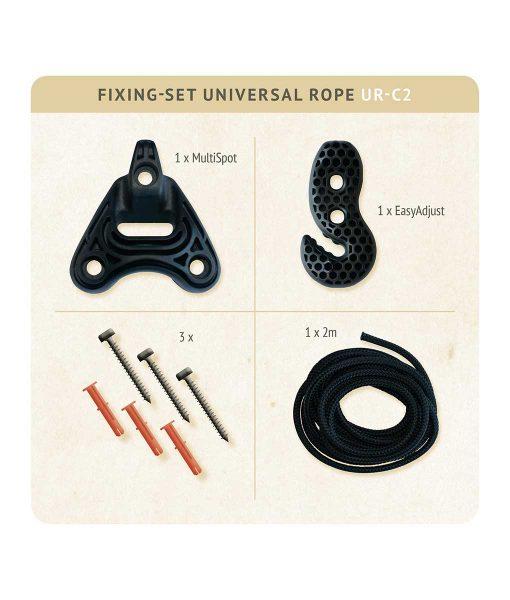 Въже за хамак люлка Universal rope black LA SIESTA 4