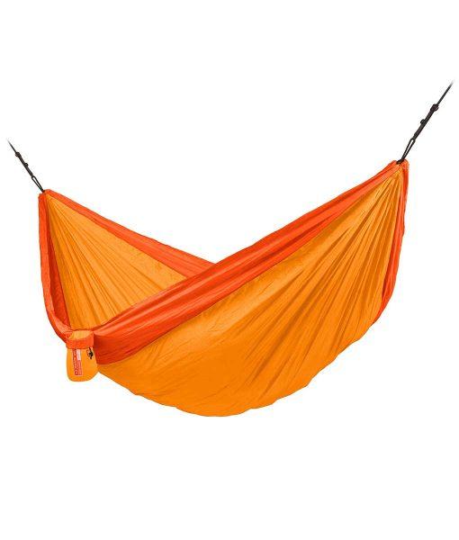 Хамак туристически двоен Colibri оранжев 3.0 LA SIESTA