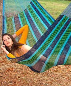 Мексикански плетен хамак двоен Blue Mint Rada