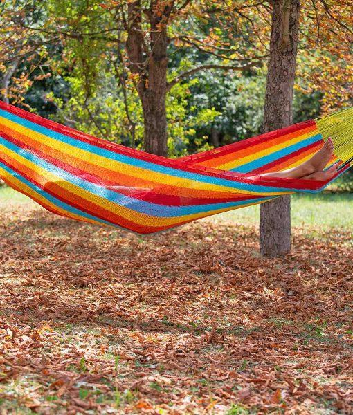 Мексикански плетен хамак двоен Rainbow Rada 3