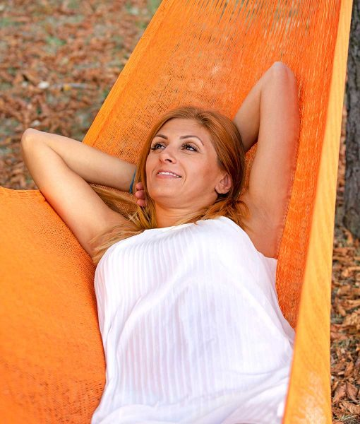 Мексиканскаи плетен хамак двоен Orange Rada 2