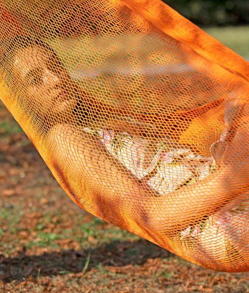 Мексиканскаи плетен хамак двоен Orange Rada 4