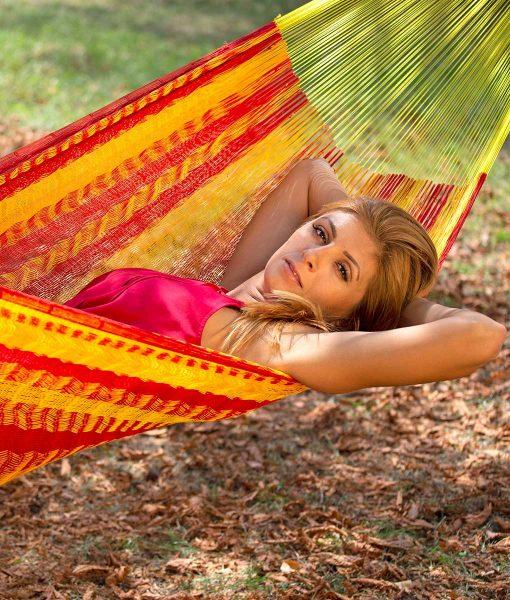 Мексиканскаи плетен хамак двоен Tequila Sunrise Rada 2